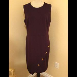 DKNY plum colored sleeveless dress, size 14